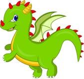 Милый шарж дракона иллюстрация штока