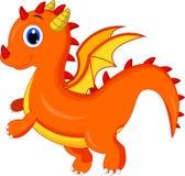 Милый шарж дракона бесплатная иллюстрация