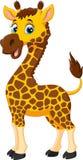 Милый шарж жирафа изолированный на белой предпосылке Стоковые Фотографии RF