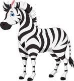 Милый шарж зебры Стоковые Фотографии RF