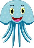 Милый шарж медуз иллюстрация штока