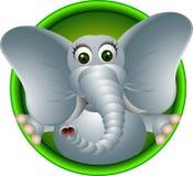 Милый шарж слона Стоковое Изображение RF