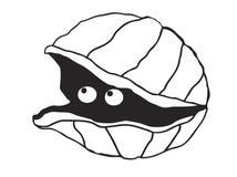Милый шарж clam Стоковые Изображения
