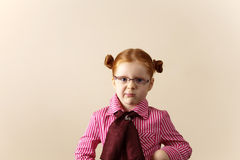 милый шикарный redhead портрета девушки Стоковые Изображения RF