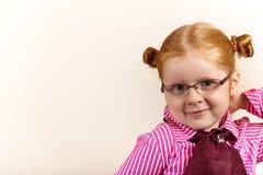 милый шикарный redhead портрета девушки Стоковые Изображения