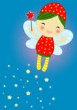 милый fairy красный цвет светляка Стоковая Фотография