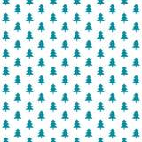 Милый teal и белизна картины пиксела леса зимы Стоковое фото RF