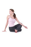 милый yogi женщины Стоковые Изображения