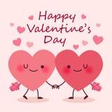 2 милых пары сердца мультфильма иллюстрация штока