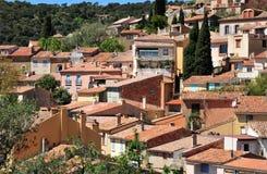 Мимозы les Bormes, Франция - 18-ое апреля 2016: живописная старая Стоковое Изображение