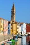 Мимолётный взгляд острова Burano, Венеции Стоковые Изображения