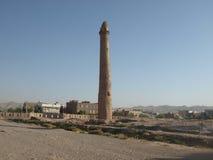 Минарет в городе сердца, Афганистане Стоковая Фотография