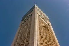 Минарет мечети ` s Касабланки, Марокко стоковые фотографии rf