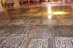 Минарет Михраб Большой интерьер мечети или Mezquita известный в Cordoba, Испании стоковое фото