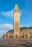 Минарет Hasan II, мечеть в Касабланке - Марокко Стоковая Фотография