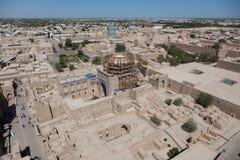 Минарет Kalta небольшой в Khiva, зоне Khorezm, Узбекистане стоковые фото