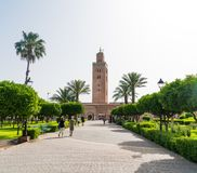 Минарет Koutoubia-мечети Стоковая Фотография RF