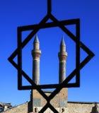 Минарет Madrasa Cifte - двойной минарет в Sivas Стоковое Изображение RF