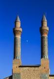 Минарет Madrasa Cifte - двойной минарет в Sivas Стоковое фото RF