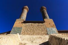 Минарет Madrasa Cifte - двойной минарет в Sivas Стоковые Изображения