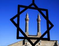 Минарет Madrasa Cifte - двойной минарет в Sivas Стоковое Фото