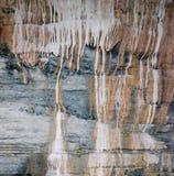 Минеральная текстура стены пещеры, текстура утеса Стоковые Изображения
