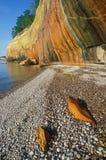 минерал скалы запятнал стоковые фотографии rf