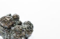 минерал шарика пирита на белизне Стоковые Фото