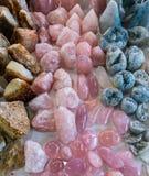 Минералы, естественный кварц цвета Стоковая Фотография