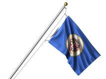 Минесота изолированная флагом Стоковые Фото