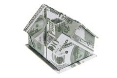 миниатюра дома кредитки Стоковая Фотография