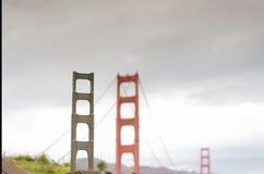 Миниатюра моста золотого строба стоковые изображения rf