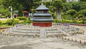 Миниатюра Temple of Heaven на великолепном парке фарфора, Шэньчжэне, фарфоре Стоковое Изображение