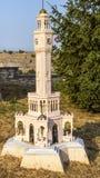 Миниатюрная башня с часами Стоковые Изображения