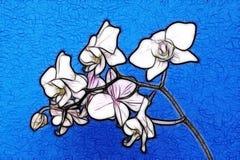 миниатюрная орхидея Иллюстрация вектора