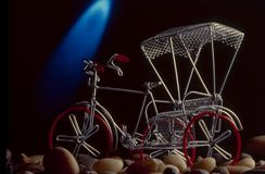 Миниатюрная рикша цикла стоковые фотографии rf