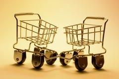 миниатюрные вагонетки покупкы Стоковое Фото
