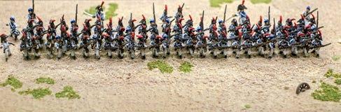 Миниатюрные оловянные солдатики стоковое фото rf