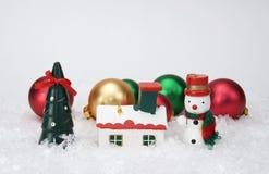 Миниатюрные орнаменты рождества Стоковые Изображения