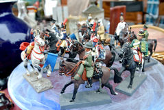 Миниатюрные оловянные солдатики стоковая фотография rf