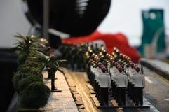 Миниатюрные оловянные солдатики стоковые изображения