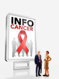 Миниатюрные люди - группа людей стоя в фронте рак Стоковые Фотографии RF