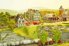 миниатюрный городок Стоковое фото RF