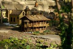 миниатюрный железнодорожный городок Стоковое Изображение RF