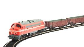 миниатюрный модельный поезд Стоковая Фотография RF