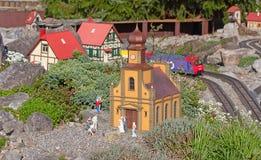 миниатюрный модельный поезд Стоковое Фото