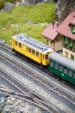 миниатюрный модельный старый поезд игрушки Стоковое Фото