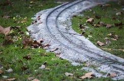 Миниатюрный путь рельса в парке Стоковое фото RF
