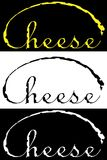Минималистская литерность логотипа дела дизайна сыра Стоковые Фото