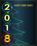 Минималистская партии приглашения поздравительная открытка 2018 Стоковое фото RF